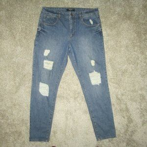 Forever 21 Ripped Distressed Jeans